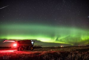 Harvest under the Northern lights — Saskatchewan Farmland Real